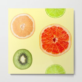 65 MCMLXV Citrus Fruit Toss Pattern Metal Print