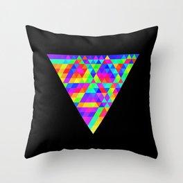 Fractal Triforce Throw Pillow