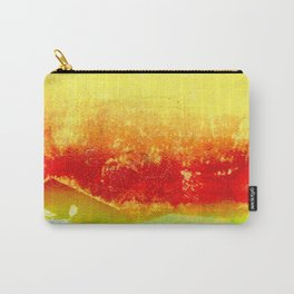 Vibrant Yellow Sunset Glow Textured Abstract Carry-All Pouch