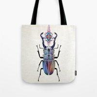 beetle Tote Bags featuring beetle by Manoou