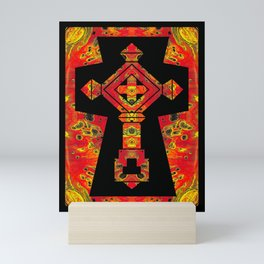 Cross of Ages in Red Mini Art Print