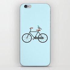 Pigeon Riding Bike iPhone & iPod Skin