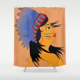 Away with the wind Shower Curtain