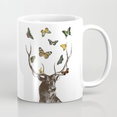 The Stag and Butterflies Mug