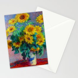 Claude Monet Bouquet of Sunflowers Stationery Cards