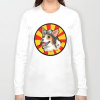 corgi Long Sleeve T-shirts featuring corgi  by sebastian aburto
