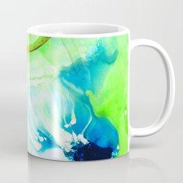Blue And Green Abstract - Land And Sea - Sharon Cummings Coffee Mug