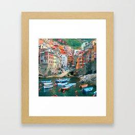 Italy. Cinque Terre marina Framed Art Print
