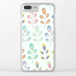 Colorful Leaves III Clear iPhone Case