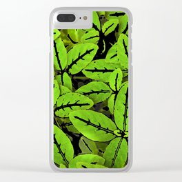 Nature Print Pattern Clear iPhone Case