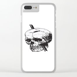 Frontal Lobotomy Skull Of Phineas Gage Vector Isolated Clear iPhone Case