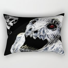 Ghoul Meets Skull By Annie Zeno  Rectangular Pillow