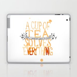A Cup of Tea Solves Everything  Laptop & iPad Skin