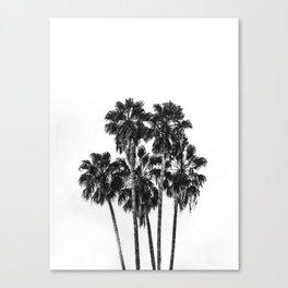 Palm, Trees, Nature, Tropical, Modern art, Scandinavian, Art, Minimal, Wall art Canvas Print