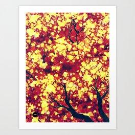 Fall 2 of 2  Art Print