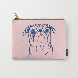 Pug (Pink and Blue) Carry-All Pouch