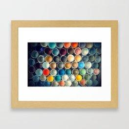 Honeycomb Palette Framed Art Print
