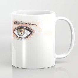 Her Eyes, Minimalist watercolor female eyes, NYC artist Coffee Mug