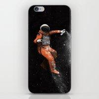 astronaut iPhone & iPod Skins featuring Astronaut by Florent Bodart / Speakerine