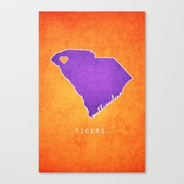 Clemson Tigers Canvas Print