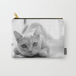 The pouncing kitty - BW Carry-All Pouch