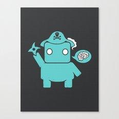 Ninja Pirate Robot Zombie Canvas Print