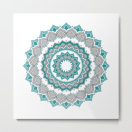 Blue and Grey Metal Print