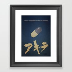Akira (Blue) Framed Art Print