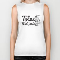 totes Biker Tanks featuring Totes McGoats by Scoggz
