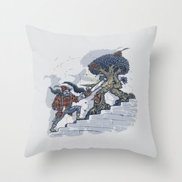 The Never Ending Duel Throw Pillow