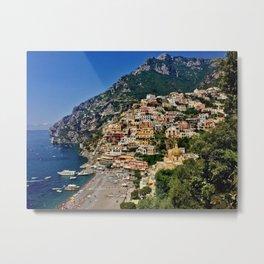 Positano's coast Metal Print
