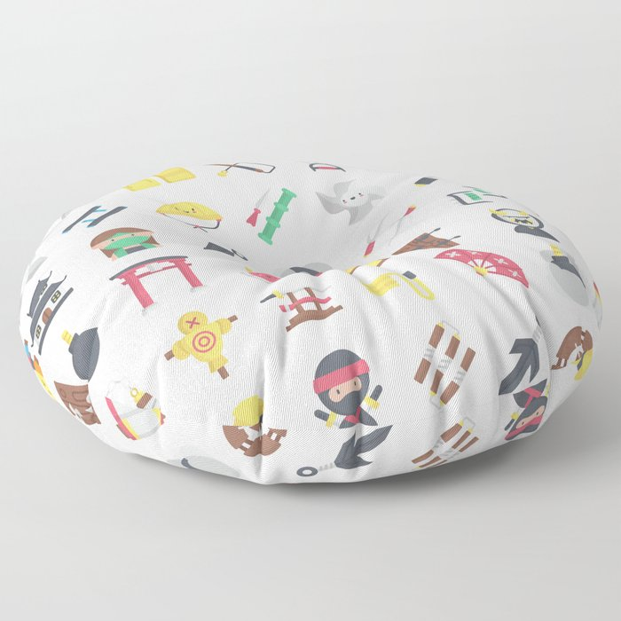 CUTE NINJA PATTERN Floor Pillow