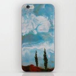 Cypress Trees encaustic wax painting by Seasons Kaz Sparks iPhone Skin