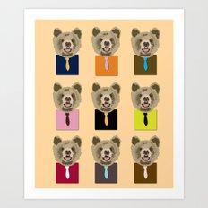Little bear with tie Art Print