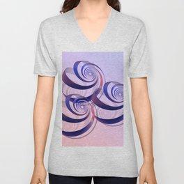 connected spirals Unisex V-Neck