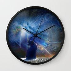 Cyberspace Cat Wall Clock