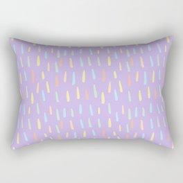 Modern violet teal yellow watercolor brushstrokes pattern Rectangular Pillow