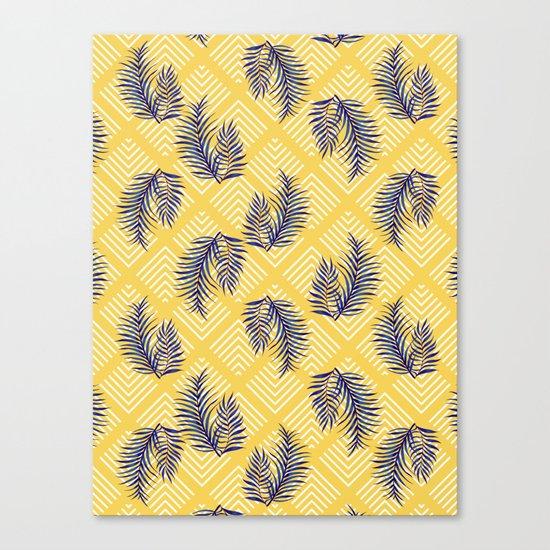 Geometries & Blue Palms #society6 #decor #buyart Canvas Print