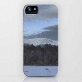 Snowy Katahdin iPhone Case