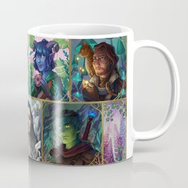 The Mighty Nein With Flowers Coffee Mug