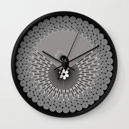 Peacock 3 Wall Clock