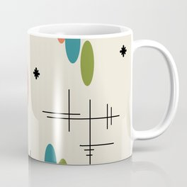 Ovals and Starbursts Colorful 1 Coffee Mug