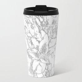Large flowers pencil effect Travel Mug
