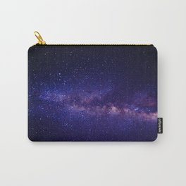 Purple Glitter Star Galaxy Carry-All Pouch