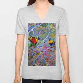 Rainbow Lorikeet Mosaic Unisex V-Neck