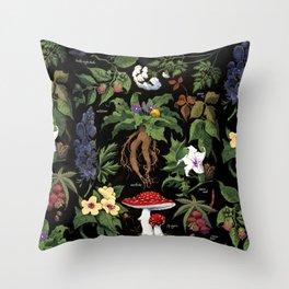 Poison Plants Throw Pillow