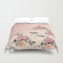 ombre floral - all Duvet Cover