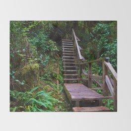 Staircase to heaven Throw Blanket