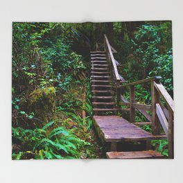 Staircase to heaven Throw Blanket