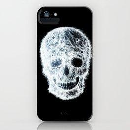 White hairy skull iPhone Case
